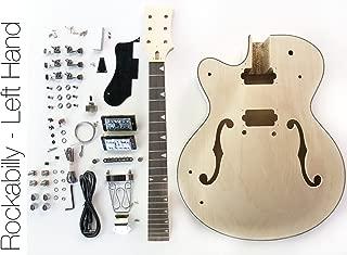 DIY Electric Guitar Kit - Left Hand Hollow Body Build Your Own Guitar Kit