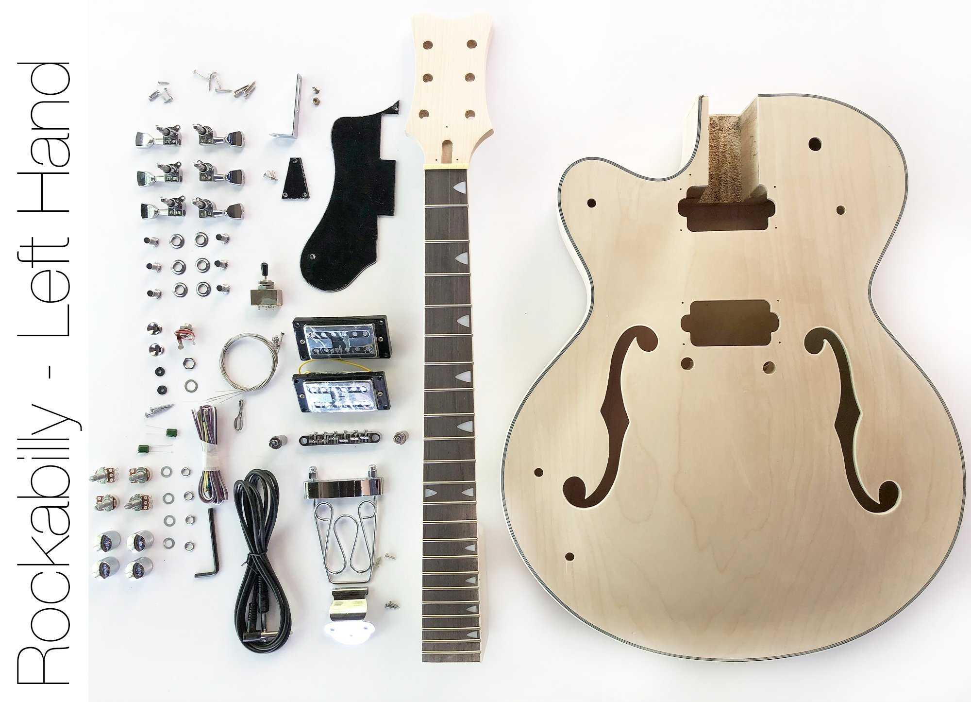 Cheap DIY Electric Guitar Kit - Left Hand Hollow Body Build Your Own Guitar Kit Black Friday & Cyber Monday 2019