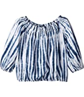 Polo Ralph Lauren Kids Shibori Linen Boho Top (Little Kids)