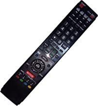 Replaced Remote Control Compatible for Sharp LC-70C8470U LC-70C6400U LC60LE633U LC60LE835 LC-80LE632U AQUOS LED LCD HD TV with NETFLIX 3D Button