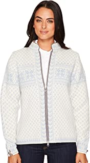 DALE OF NORWAY Women's Sunniva Jacket A-Off-White/Ice Blue Small