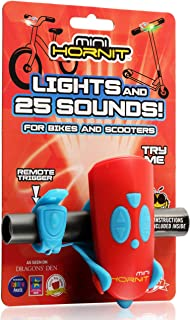 Hornit MINI HORNIT REBU Fun Horn and light gift for kids bike & scooters, Red and Blue
