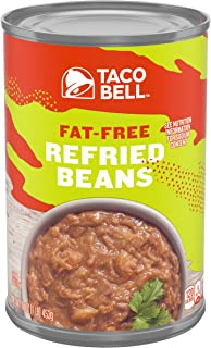 Taco Bell Fat Free Refried Beans (16oz Cans, Pack of 12)