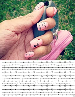 Barbed Wire Water Slide Nail Art Decals - Salon Quality!