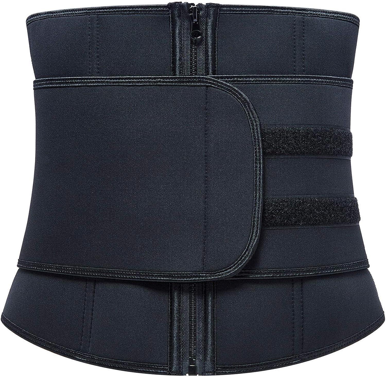 EseFGJK Women Waist Trainer Belt, Corset Trimmer Belly Band Sweat Sports Girdle Waist Cincher Body Slimming Belt Zipper
