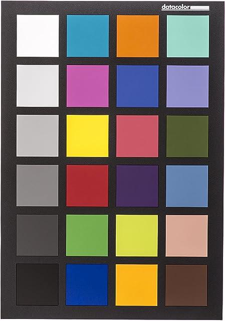 Datacolor SpyderCHECKR 24 - Tarjeta de color para la calibración de la cámara con 24 parches de color