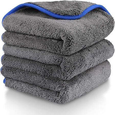 Gifort Auto Reinigungstuch Tücher 3 Stücke Mikrofasertücher Poliertuch Mit Zum Waschen Putzen Polieren Und Trocknen Von Fahrzeugen 38 X 43cm Gray Auto