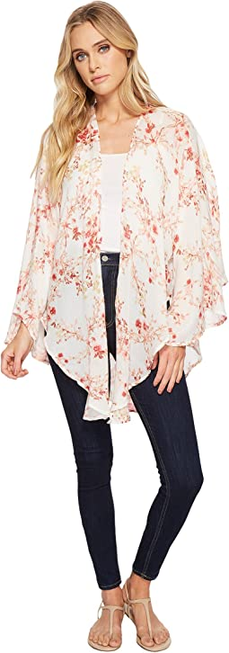 Collection XIIX - Bud Floral Open Front Kimono