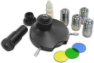 Bresser Mikroskop Phasenkontrast Satz zur Kontraststeigerung von Mikroskopproben ohne diese einzufärben, geeignet für Bresser Science Mikroskopserie