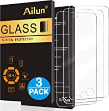 Ailun Screen Protector Compatible with iPhone 5S iPhone SE iPhone 5 iPhone 5c 3Pack 2.5D Edge Tempered Glass Compatible with iPhone 5 5S 5C SE Anti-Scratch Case Friendly Siania Retail Package