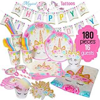 EcoZen Lifestyle Ultimate Unicorn Party Supplies And Plates For Birthday