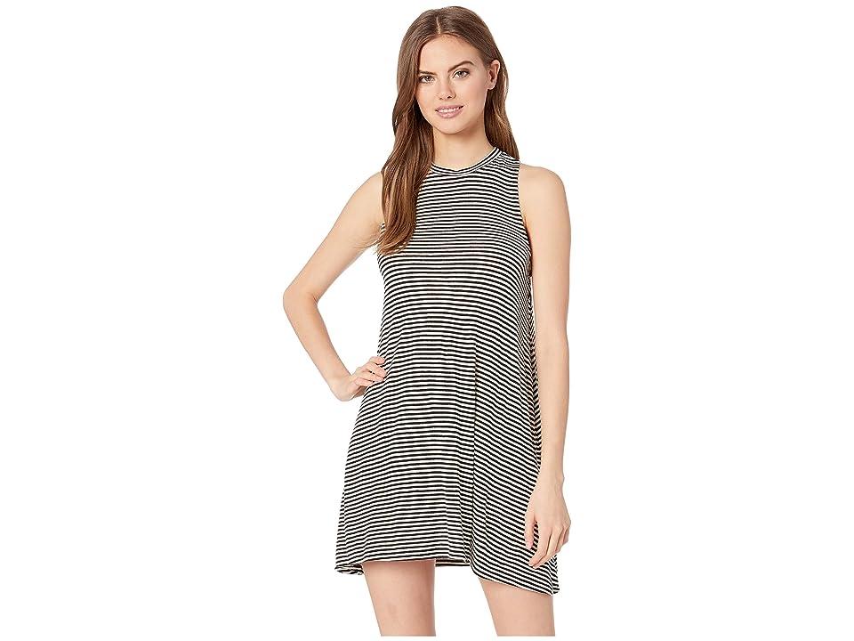 Rip Curl Surf Essentials Tank Dress (Black/White) Women
