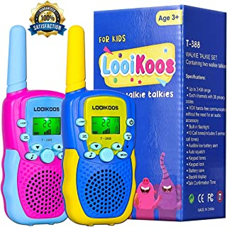 LOOIKOOS Walkie Talkies for Kids,Kids Toys 22 Channels 2 Way Radio Best Gift for Age 3-12 Boys and Girls