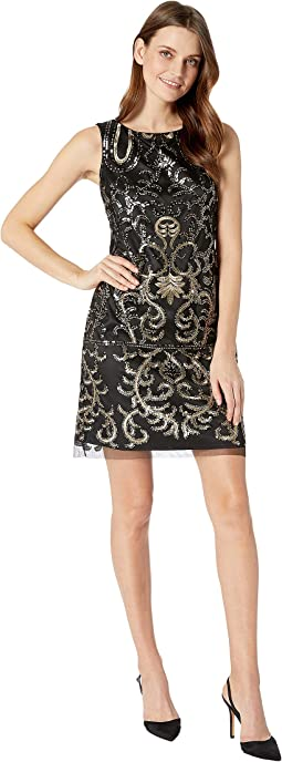Sleeveless Sequins Sheath Dress