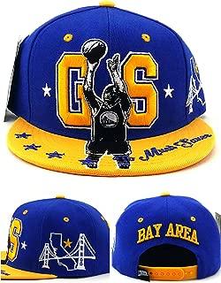 Golden State GS New Leader Curry The Bay Area Bridge Skyline MVP Blue Gold Era Snapback Hat Cap