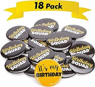 birthday squad sash