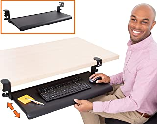 Stand Steady Easy Clamp On Keyboard Tray – Extra Large Size – No Need to..