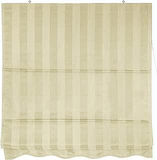 Oriental Furniture Striped Roman Shades - Cream - (24 in. x 72 in.)