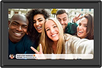 $149 Get Feelcare 10 Inch 16GB Smart WiFi Digital Picture Frame, Send Photos from Anywhere in The World, Touch Screen, 800x1280 IPS LCD Panel, Wall-Mountable, Portrait and Landscape(Black)