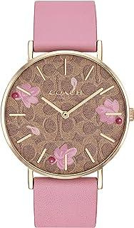 Coach Women's Multicolor Dial Pink Calfskin Watch - 14503442