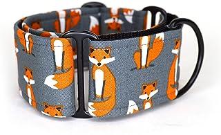 Collar Martingale Para Perro: Fancy Fox, Hecho a Mano en España por Wakakán