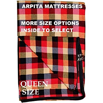 Generic Cotton Mattress Cover for Queen Size Bed with Zip(78x60x6-inch, Multicolour)