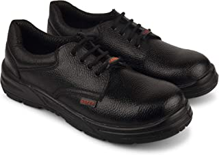 Aktion Safety Genuine Leather Shoes Safer-1601 Steel Toe - Size 7, Black