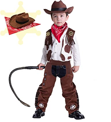 Spooktacular Creations Cowboy Costume Deluxe Set for Kids Halloween Party Dress Up,Role Play and Cosplay