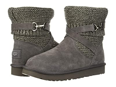 UGG Purl Strap Boot (Charcoal) Women