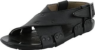 LeeGraim Men's Leather Outdoor Sandals