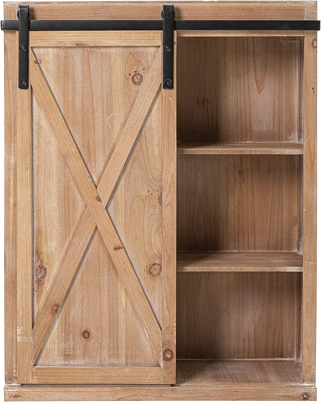 Hawoo Farmhouse Popular brand At the price Bathroom Wall Storage Sliding with Barn Cabinet