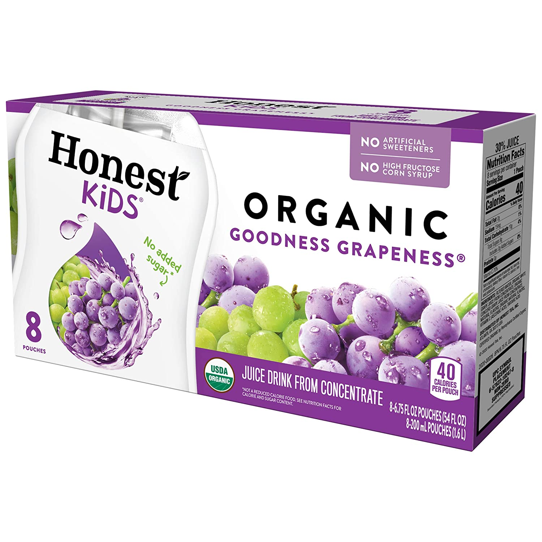 Honest Kids, Goodness Grapeness Grape Fruit Juice, 6.75 Fl Oz (pack of 8)