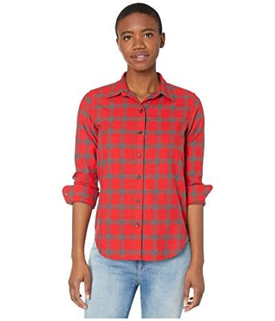 Filson Light Weight Alaskan Guide Shirt (Red/Charcoal Plaid) Women