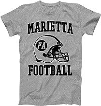Vintage Football City Marietta Shirt for State Pennsylvania with PA on Retro Helmet Style