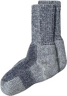 Thorlo Big Boys'Outdoor Crew Sock,Navy Heather,Shoe size 13.5-4