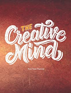 The Creative Mind: Five Year Planner: 2019-2023 Monthly Planner 8.5 x 11