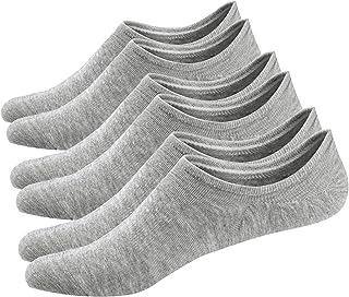 Ueither, 3 o 6 Pares Calcetines Invisibles Mujer De Algodón Calcetines Cortos Elástco Con Silicona Antideslizante