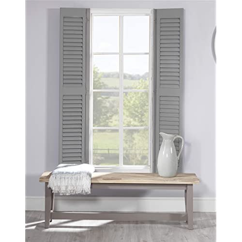 DOVE GREY Dining Bench With Very Solid Hardwood Seat QUALITY Kitchen Table Wooden