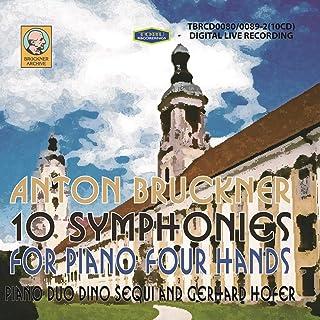 TBRCD0080/89 4手ピアノによるブルックナー:交響曲全集