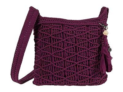 The Sak Carlisle Crochet Crossbody (Violet) Handbags