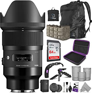 Sigma 35mm f/1.4 DG HSM Art Lens for Sony E Mount Cameras with Altura Photo Advanced Accessory and Travel Bundle