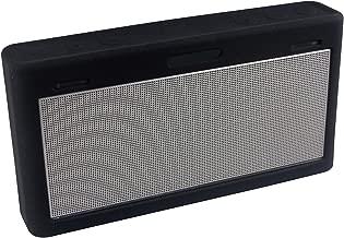 Luckynv – Carcasa blanda de silicona para golpes Funda protectora impermeable para Bose SoundLink III Mini 3 Altavoz Bluetooth, Negro