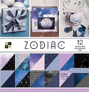 American Crafts 卡片 Zodiac 优质印刷卡片纸堆叠,30.48cm X 30.48cm