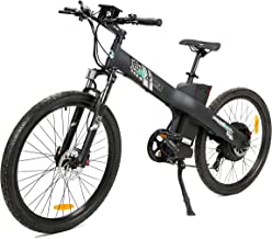 """ECOTRIC 26"""" Electric Mountain Bicycle Ebike Powerful 48V/13AH 1000W Motor Removable Battery Aluminum Frame Black City Tire LED Display Throttle and Peddle Assist Power"""