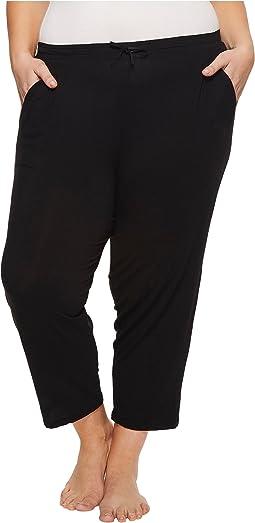 Plus Size Modal Spandex Jersey Capri Pants