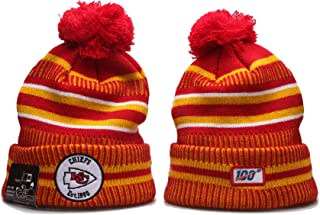 KATHLEEN 2019 New Fans hat Sideline Sport Knit Winter Pom Knit Hat Cap …