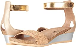 Gold Cork Leather/Champagne Leather/Gold Leather