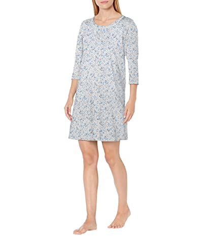 Carole Hochman Soft Jersey 3/4 Sleeve Sleepshirt (Multi/Daisy) Women
