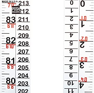Growth Chart. Height Indicator Tape Ruler. Height Measure. Made in USA.