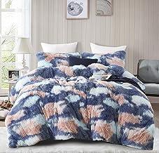 Hobed Life Plush Fluffy Faux Fur Comforter Set 3 Pieces, Double Size, Premium Pure Micro Wadding Fiber in Comforter, Luxur...